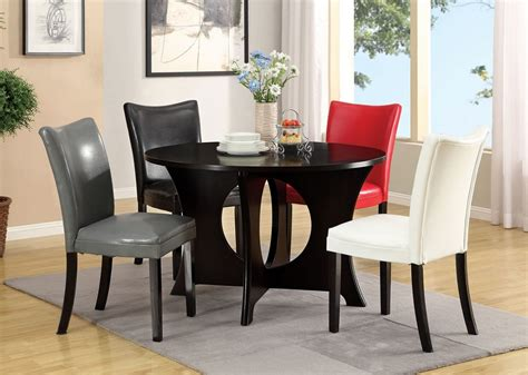 5pc basca circle opening dining table set multi