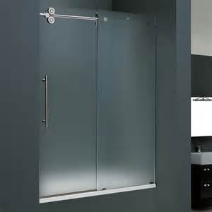 Bathtubs With Glass Shower Doors Vigo Industries Vg6041 Frosted Glass Inch Frameless Tub Shower Door Atg Stores