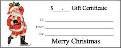 santa gift certificate template gift certificate templates