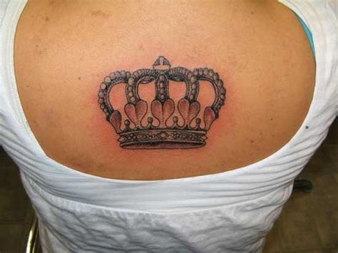crown tattoo design for female upper back sheplanet