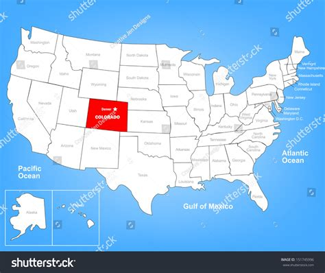 colorado united states map vector map of the united states highlighting the state of