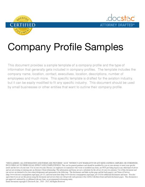 Template For A Company Profile best photos of writing a company profile sle sle