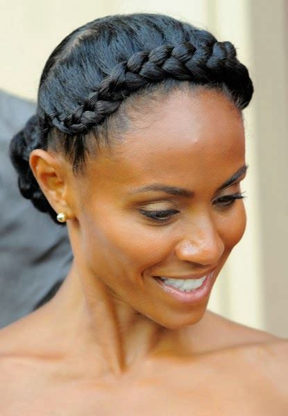 cornrow hairstyles jada pinkett smith hair crush jada pinkett smith s jumbo side cornrow