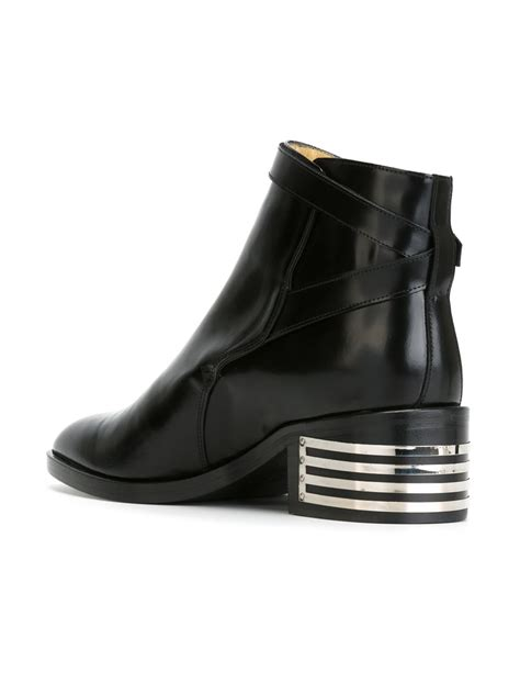 each x other low chunky heel buckled boots in black lyst