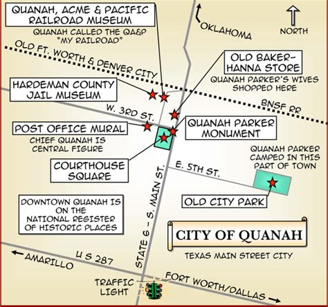 quanah texas map quanah 1 map