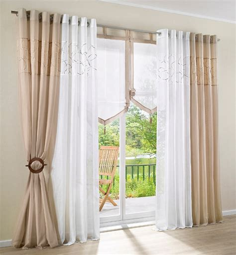 rustic living room curtains embroidered design window curtains for living room