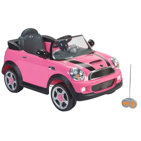 pink kid car mini cooper toy car for kids homeminecraft