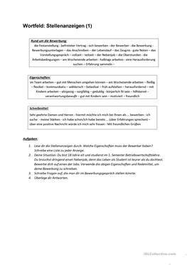 Bewerbungsschreiben B2 10 kostenlose daf bewerbung arbeitsbl 228 tter