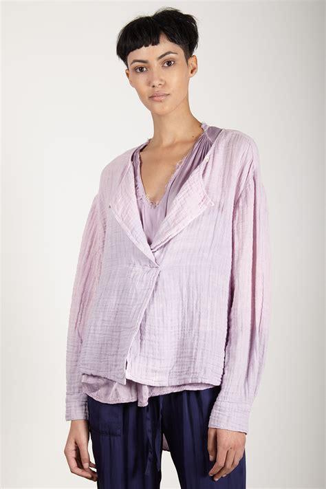 Adia Blouse Ori Sv raquel allegra lilac gauze boxy day blouse garmentory