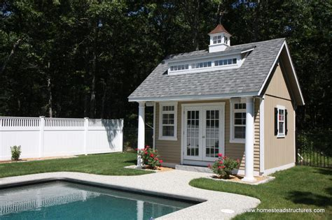 How To Build A Pool House by Pool Houses Homestead Structures