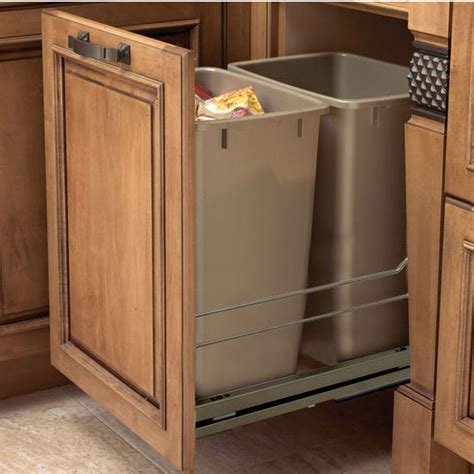 under cabinet trash bins double garbage can cabinet roselawnlutheran
