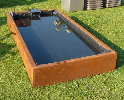 Supérieur Bache Table De Jardin #3: Bassin-corten-et-bache-200x100x25cm.jpg