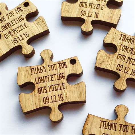 personalized custom photo puzzles made to order the custom wedding favors puzzle favors puzzle piece favors