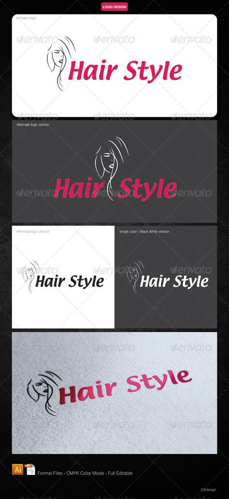 Hair Style Menu by Hair Style Logo By Jubeix Graphicriver