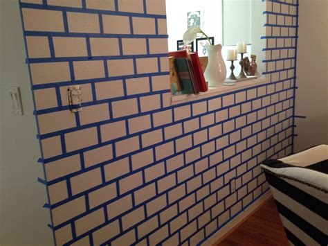 how to put photos on wall without tape diy painted brick wall the glamorous project