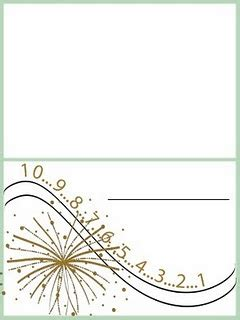 New Year Place Cards Templates by New Years Place Cards Place Card Template And
