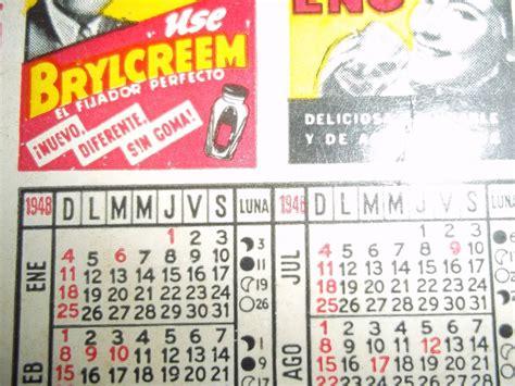 Calendario De 1948 Almanaque Calendario De Bolsillo A 241 O 1948 Remedio