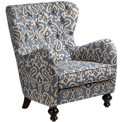 Ikat Armchair by Soft Blue Ikat Pattern Armchair Polyvore