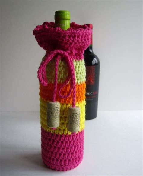 knitting pattern wine bottle cover wine cozy crochet wine bottle covers sacks gift bags