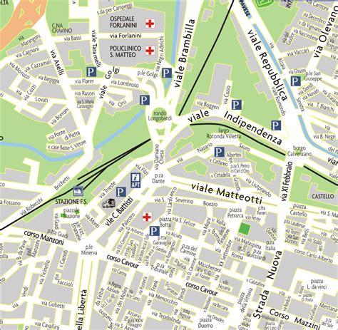 pavia mappa turistica mappa della citt 224