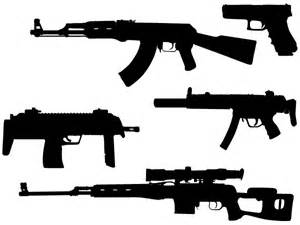 machine gun vector silhouettes free download free vector art free vectors