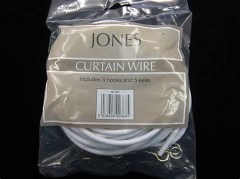 curtain spring wire 5mts of curtain wire jones stretch spring net voile fabric