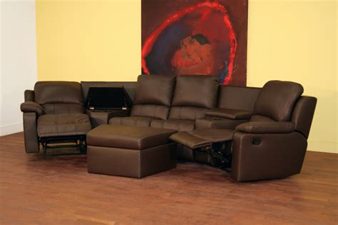 leather theater sectional object moved