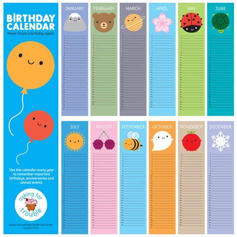 new year calendar birthdays look around kawaii birthday calendar by asking for trouble