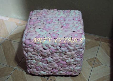 Givana Puff 3 capa p puff flores em puff s cl 201 rice elo7