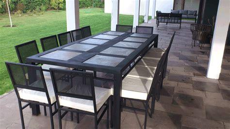 comedor de terraza comedor de fierro canal modelo la florida 12 sillas