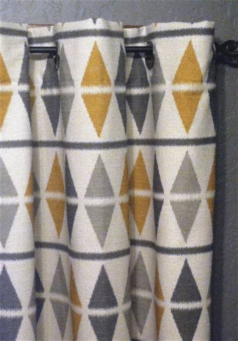 grey and mustard curtains ikat curtains by designer pillow shop contemporary