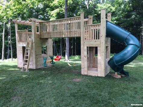 diy backyard playset your diy trevor from heath ohio built a backyard playset