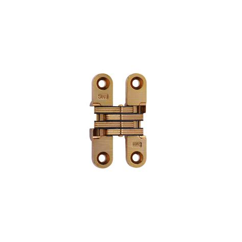 soss invisible hinge installation soss 1 2 in 2 3 8 in satin brass invisible hinge 204cus4