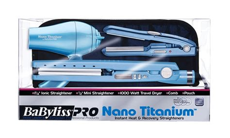 Babyliss Hair Dryer Living Social babyliss flat iron and hair dryer travel pack 5