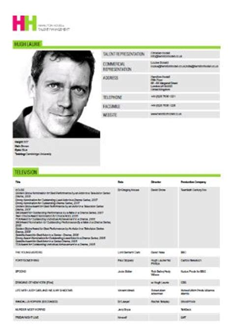 What Information Should A Resume Provide by The Actor S Slate Your Actor Resume