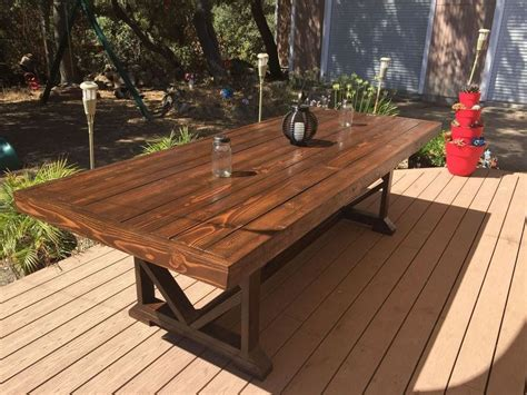 diy large outdoor dining table seats   wooden