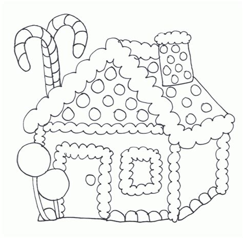 printable gingerbread house to color free printable house coloring pages for kids