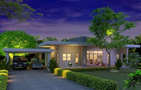a 1 story house 2 bed room desien modern style single story house plans for construction in