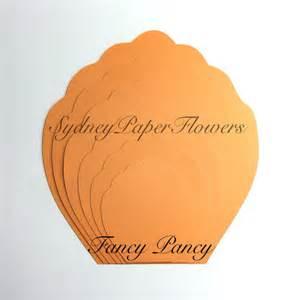 Paper Petal Template by Paper Flowers Petal Template Fancy Pancy By Sydneypaperflowers