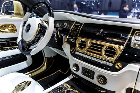 rolls royce gold interior geneva 2016 mansory palm edition 999