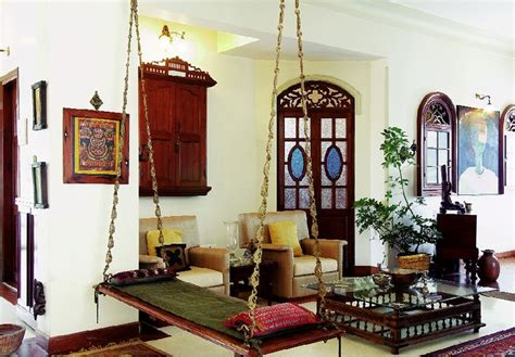 home decor design india oonjal wooden swings in south indian homes
