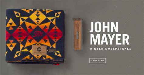 John Mayer Sweepstakes - john mayer winter sweepstakes