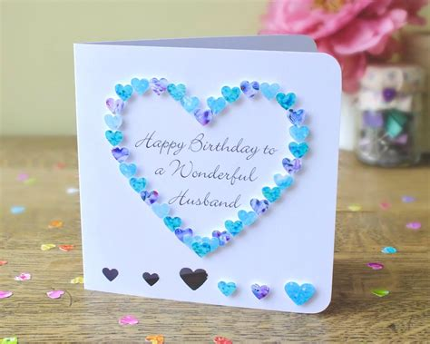 Handmade Greetings For Birthday - handmade birthday cards for husband larissanaestrada
