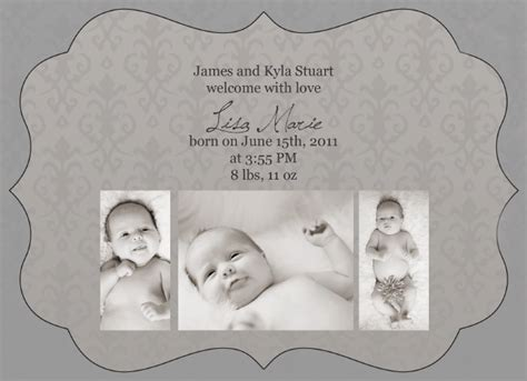 free templates for birth announcements photoshop free birth announcement photoshop template products i