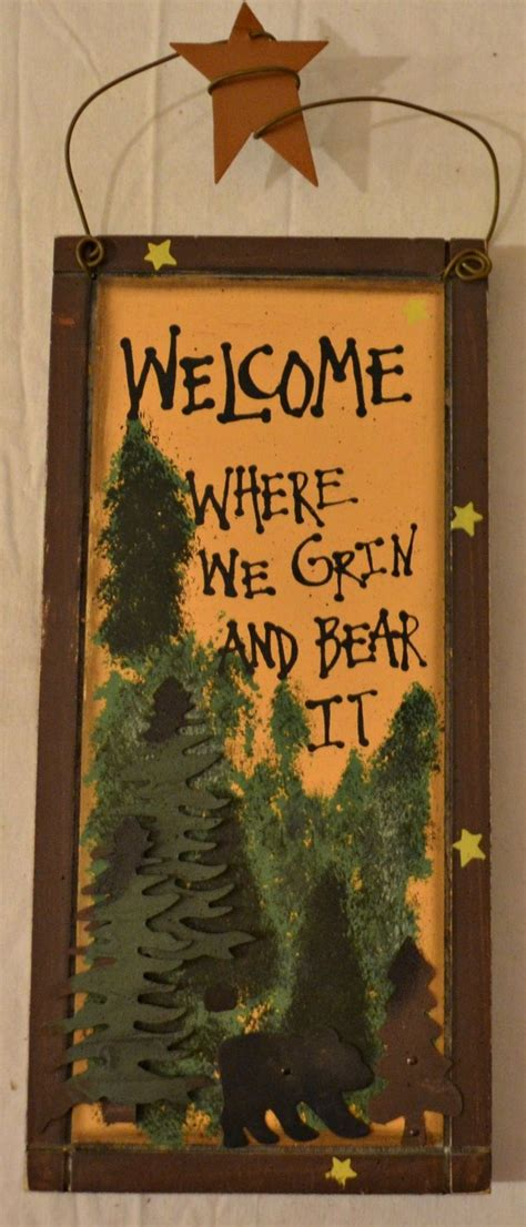 large rustic black bear on wood hand painted by 19 best images about bear signs on pinterest wooden