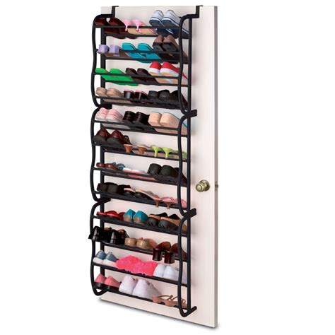 door hanging shoe rack black 36 pair door hanging shelf shoe rack storage