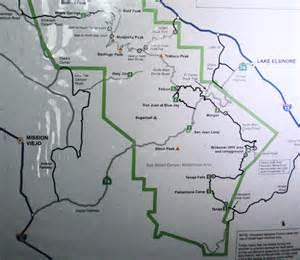silverado california map silverado to modjeska peak adventures in southern