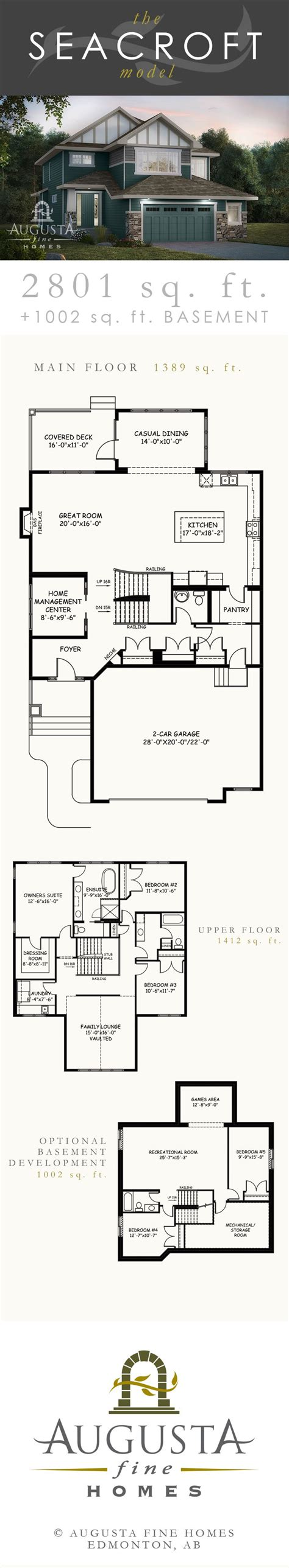 House Plans Edmonton by The Seacroft New Home Model By Augusta Homes In