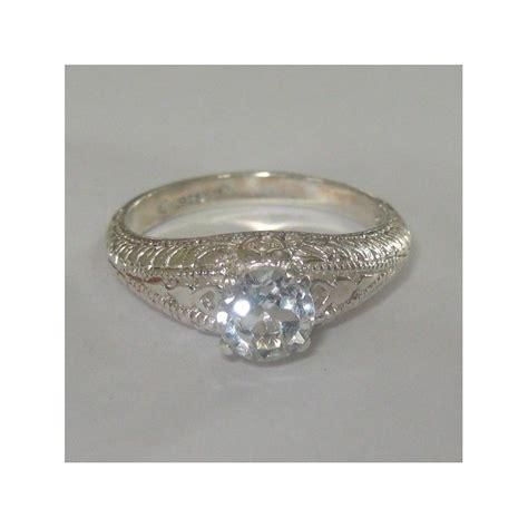 Silver Ring Sv18 Blue Topaz Batu Permata Cincin Perak jual cincin topaz putih bahan solid sterling silver 925