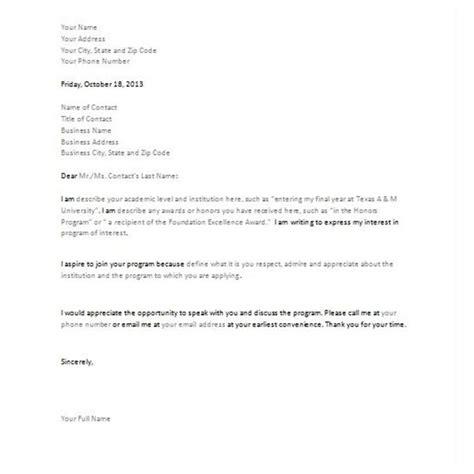 Letter Of Intent Sle Undergraduate Letter Of Intent Template Real Estate Forms